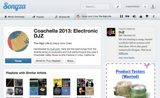 Songza Coachella Electronic DJZ