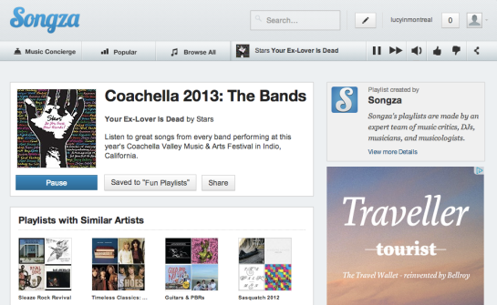 Songza Coachella The Bands